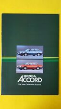 Honda Accord Executive Deluxe 3 4 door car brochure sales catalogue 1984 MINT