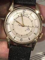 VINTAGE LECOULTRE K814 ALARM WATCH FOR MAN =RUNS STRONG