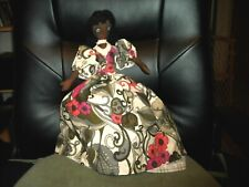 hand made boudoir doll topsy turvy black white nice dresses hand stitched faces