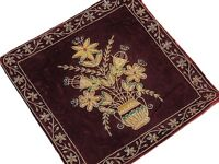Red Beautiful Indian Couch Pillow Gold Zardozi Embroidered Decorative Cushion