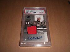 2009-10 SPX Erik Karlsson Auto Jersey Rookie Card #648/799 PSA 8 NM-MT