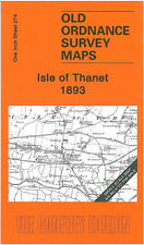 OLD ORDNANCE SURVEY MAP ISLE OF THANET, BROADSTAIRS, MARGATE, RAMSGATE 1893