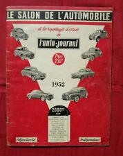 L'AUTO-JOURNAL   N° SPECIAL SALON de l'automobile 1952