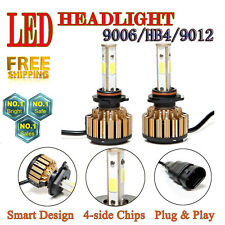 9006 HB4 9012 Car LED DRL Headlight Bulb 4-Side Kit 120W 14400lm 6000K Plug Play