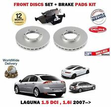 FOR RENAULT LAGUNA 1.5 DCI 1.6 2007--> FRONT BRAKE DISCS SET + DISC PADS KIT