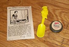 HOT DAN THE MUSTARD MAN FRENCH'S ADVERTISING AD SPOON FRENCH RECIPE SAFFRON TIN