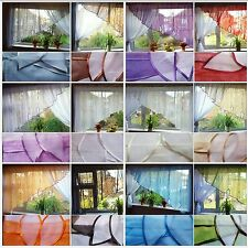 CURTAIN  - AMAZING READY MADE VOILE NET CURTAIN WITH LEAVES / FIRANY FIRANKI