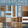 3d stl Model relief for CNC Router Artcam 20 pcs Pack №3