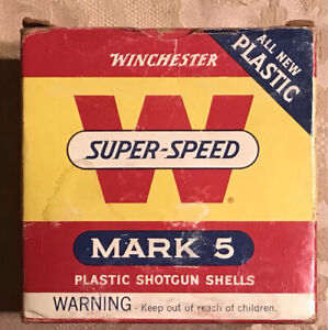 Vintage Winchester Siper Speed 12ga EMPTY shell box #SSB30