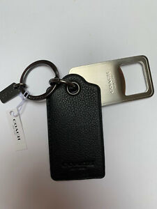 Designer Coach Leather Bottle Opener Keyring. Christmas Present.