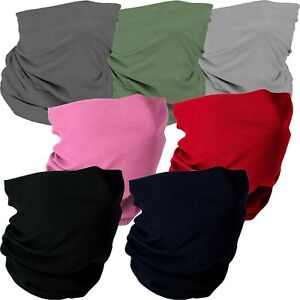 Thin Breathable Bandana Face Covering Mask Stretch Snood Neck Cover Seamless NEW