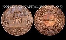 Francs Maçons. Industrie & Bâtiments, Départ. de la Seine 1896. Bronze