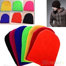 LC_ Superbe CHAUD HIVER PLAINE DE solide Bonnet tricot ski crâne chapeau