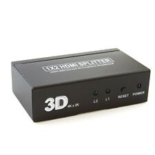 HDMI Splitter Box Support Full HD and 3D up to 1080P 4K*2K satellite providers