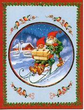 Swedish Christmas Elf Gnome Nisse on Kicksled - 6 Cards & Envelopes #CC-S5