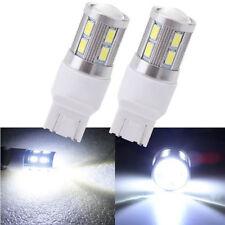 2X T20 7440 7443 12SMD +CREE White 6000K LED Bulb Car Tail Lamp Brake Stop Light
