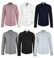 Smith & Jones Esprit Men's New Long Sleeve Slim Fit Shirts Check Plain Pattern