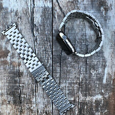 For Apple Watch 42mm 44mm Quality Silver Stainless Steel Strap Watch Wrist Band
