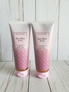 bath and body works rose water and ivy body cream set of 2