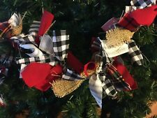 Orange black fabric /& tulle Mix Rag handmade Garland 5ft long Perfect For Mantle