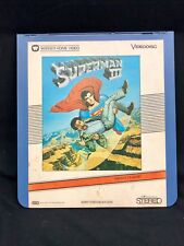 CED Capacitance Electronic Disc System Vintage Movie VideoDisc Superman 3 III