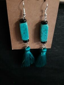 "Handmade Tassel Earrings 3"" Drop, Statement Fashion ALea Piece"