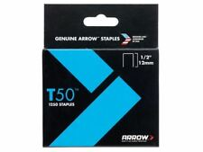 1 caja de ARROW T50 12mm (1.3cm) grapas también FIT Stanley grapas GUNS