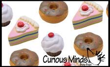 Bulk 12 Sweet Treats Food Stress Balls Cupcake Donut Cake Small Novelty Toy Part