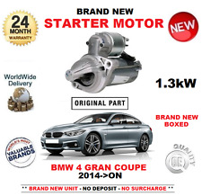 FOR BMW 4 GRAN COUPE 435 i xDrive STARTER MOTOR 2014-ON NEW 1.3kW F36 MANUAL