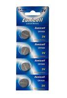 4 x CR1620 3V Lithium Knopfzelle 70 mAh ( 1 Blistercard a 4 Batterien ) Eunicell