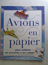 Avions en papier pour enfants 16 modèles de pliage à découpés  /ZA21