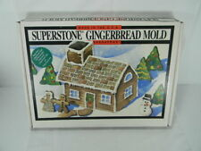 SASSAFRASS SUPERSTONE GINGERBREAD HOUSE COOKIE MOLD-1994-NIB