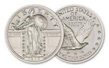 Intaglio Mint 2 oz Silver Round Standing Liberty Quarter Type II BU