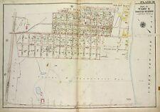 1917 RICHMOND, STATEN ISLAND, NY, WOODLAND BEACH & CASINO, COPY PLAT ATLAS MAP
