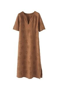 RRP £189, NEW WRAP LONDON Embroidered dress Linen, SZ 22