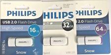 Philips USB 2.0 Flash Drive  White   8GB/16GB/32GB/64GB  12 Months Warranty