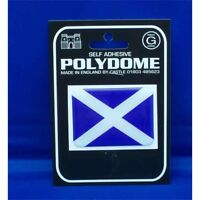 St Andrews Rectangle Polydome Sticker - Scotland Blue Cross Flag Self Adhesive