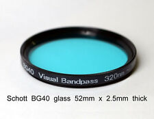 Schott BG40 52mm x 2.5mm UV/IR Cut Filter Visual Bandpass IR Suppression