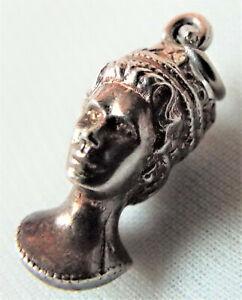 Vintage Sterling Silver ERII Royal Jubilee Queen Elizabeth II Head Charm Pendant