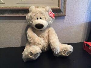 """GUND Philbin Beige Teddy Bear Stuffed Animal 13"""" Soft Plush Toy NEW With Tag"""