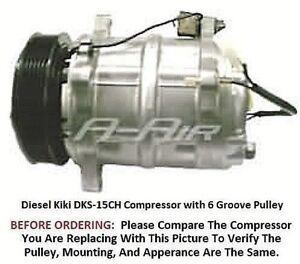 Volvo 850  93-97  OEM Diesel Kiki DKS-15CH  with 6 Groove Pulley  AC Compressor