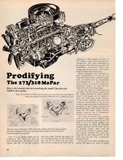 1967 PRODIFYING THE 273 / 318 MOPAR ENGINES ~ ORIGINAL 4-PAGE ARTICLE