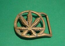 Cannibus Belt Buckle Marijuana Weed 420 Reefer Blunt Joint Pot Hash Grass