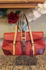 COACH Hamptons Limited Edition Red Leather Flap  Shoulder Bag #7547 (pu100