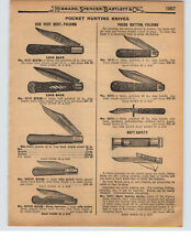 1927 PAPER AD Press Button Pocket Knife Knives Neft Safety Business