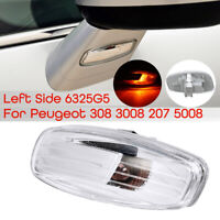 Left LED Indicator Repeater Light Under Wing Mirror For Peugeot 308 3008 207