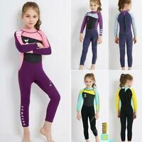 Girls Neoprene Wetsuit UPF 50+ Protection Full Surfing Length Swimsuit E3P2