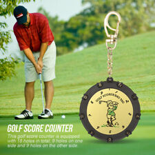 Caiton 18 Holes Golf Score Counter Stroke Shot Counter Keeper with Clip Keychain