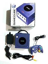 Nintendo Gamecube Console Japan Indigo Purple Bundled System Tested Works