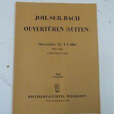 cello/bass BACH Ouvertueren Suiten Nr 1 C dur BWV 1066 Breitkopf & Haertel 4307